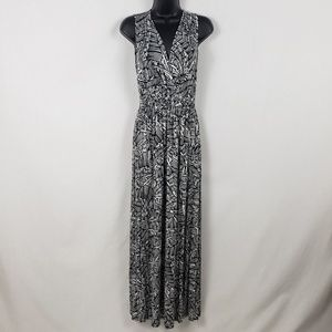 Cable & Gauge Maxi Dress Women's Small Black White